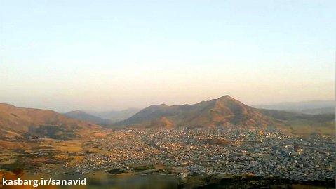 نمایی از شهر بانه از کوه دوزین