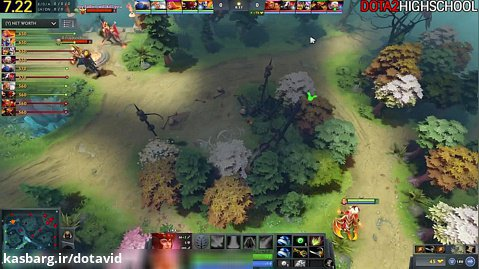 DENDI Lina VS NOONE Alchemist - Epic TOP Pro Mid Battle 7.22 Dota 2