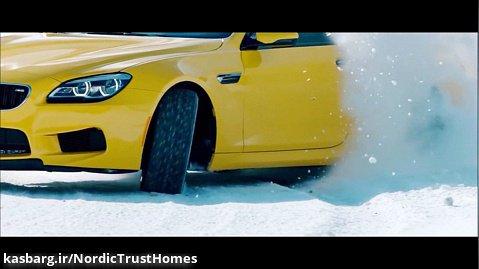 رانندگی نمایش در برف با آهنگ لینکین پارک