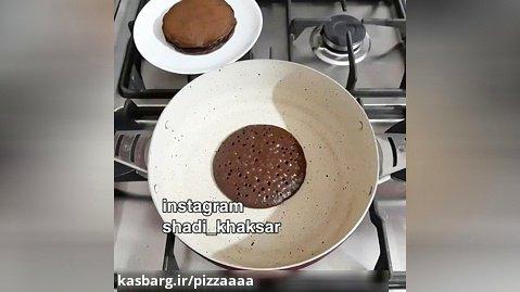 طرز تهیه پنکیک شکلاتی