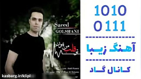 اهنگ سعید گلشنی به نام تو قلب من بمون - کانال گاد