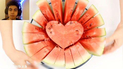 چند ترفند باحال برای بریدن هندوانه