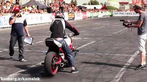 حرکات نمایشی با موتور سیکلت - STUNTER 13 - 1st PLACE PLUS STUNT
