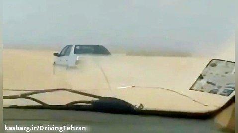 کورس گذاشتن با پژو ۴۰۵ در جاده خاکی با سرعت زیاد
