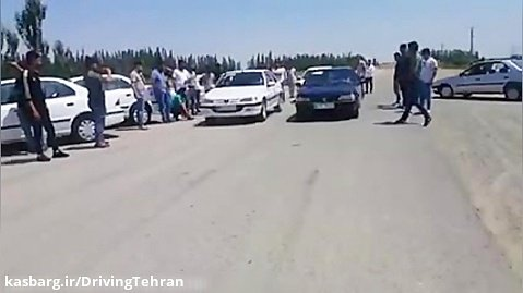 مسابقه درگ پژو پارس و پژو ۴۰۵