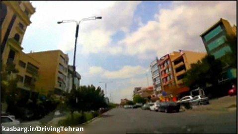 رانندگی در بلوار دریا و خوردین سعادت آباد تهران با آهنگ بنیامین