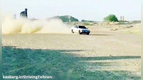 حرکت نمایشی جالب با پژو ۴۰۵ در جاده خاکی