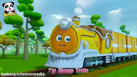 اموزش انگلیسی با کارتون - steam train