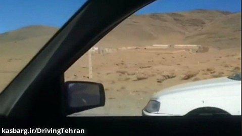 درگ با پژو پارس در جاده بیرون شهر