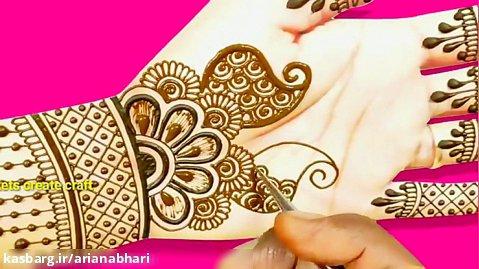 مدل باکویی حنا زدن دست عروس