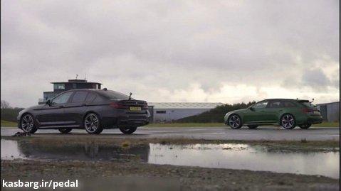درگ آئودی RS6 با ب ام و M550i